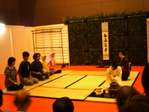 Tea ceremony at tatami room