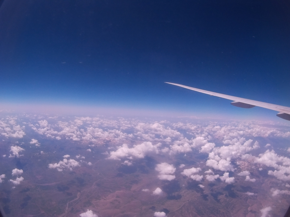 This is above somewhere in France, 20 minutes before landing in Brussels